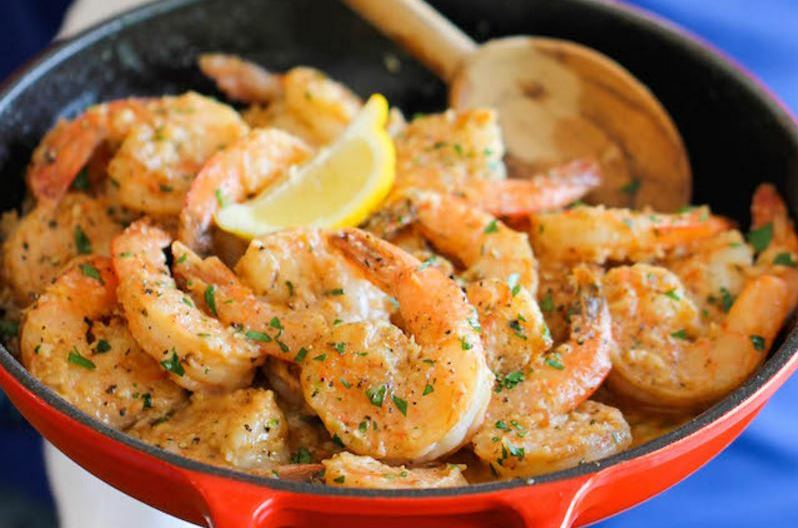 Prawns with Herb Butter